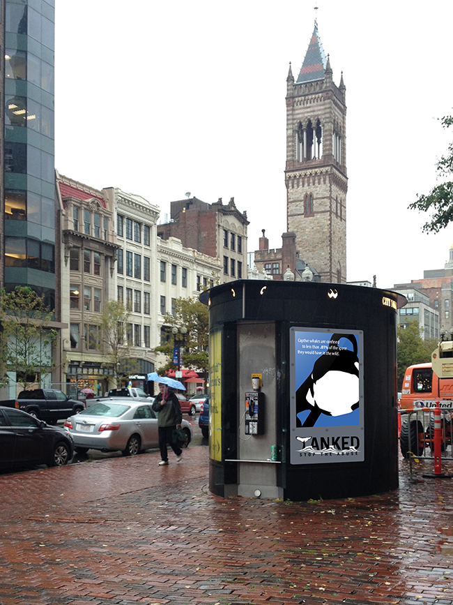 Tanked ad near Copley
