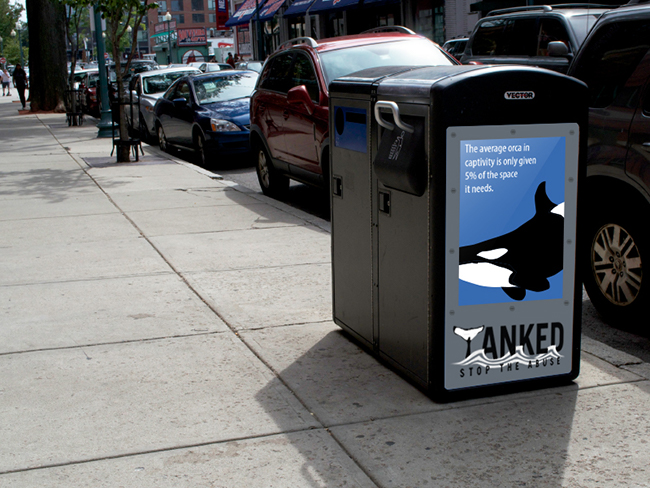 Tanked Trash Can Ad